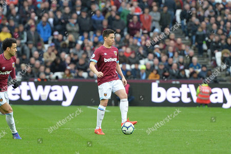 Samir Nasri of West Ham United during West Ham United vs Huddersfield Town, Premier League Football at The London Stadium on 16th March 2019