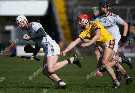 Galway vs Wexford. Galway's Darren Morrissey with Wexford's Paul Morris