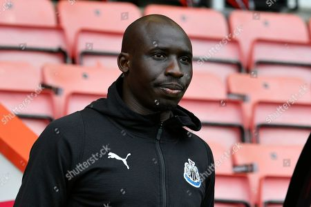 Mohamed Diame (10) of Newcastle United on arrival before the Premier League match between Bournemouth and Newcastle United at the Vitality Stadium, Bournemouth