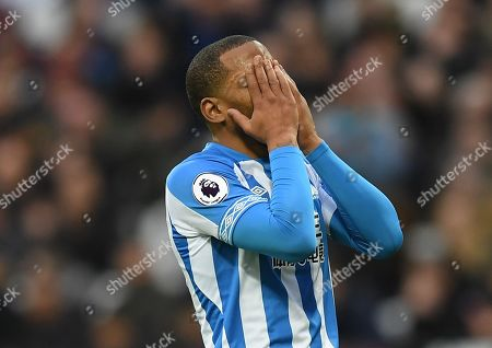 Jason Puncheon of Huddersfield Town looks dejected after failing to score