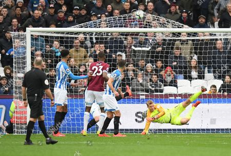 Editorial image of West Ham United v Huddersfield Town, Premier League, Football, London Stadium, London, UK - 16 Mar 2019