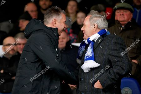 Peterborough Manager Darren Ferguson shaking hands with Director of Football Barry Fry in the stands before the EFL Sky Bet League 1 match between Peterborough United and Coventry City at London Road, Peterborough