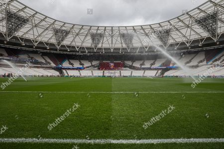 General view of the London Stadium from the Trevor Brooking stand end ahead of the Premier League match between West Ham United and Huddersfield Town at the London Stadium, London