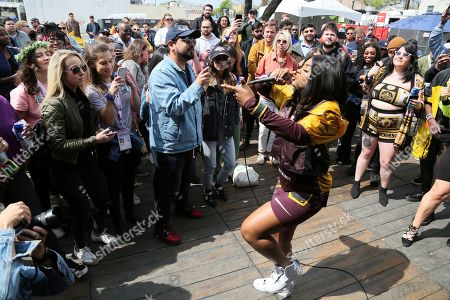Stock Picture of Dreezy performs at the Bud Light Dive Bar during the South by Southwest Music Festival, in Austin, Texas