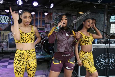 Stock Image of Dreezy performs at the Bud Light Dive Bar during the South by Southwest Music Festival, in Austin, Texas