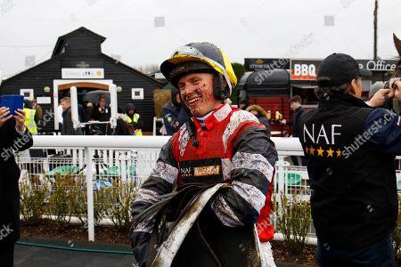 James Bowen after winning the Midlands National at Uttoxeter on Potters Corner.