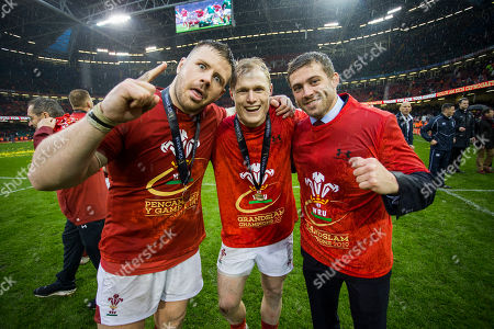 Rob Evans, Aled Davies and Leigh Halfpenny.