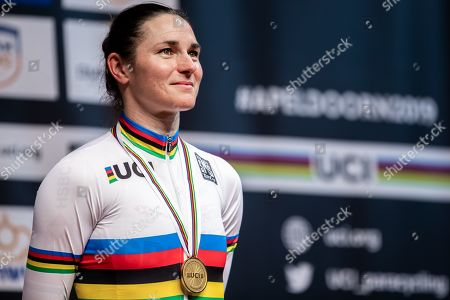 Dame Sarah Storey of Great Britain wins Gold in the Women's C5 Individual Pursuit final.
