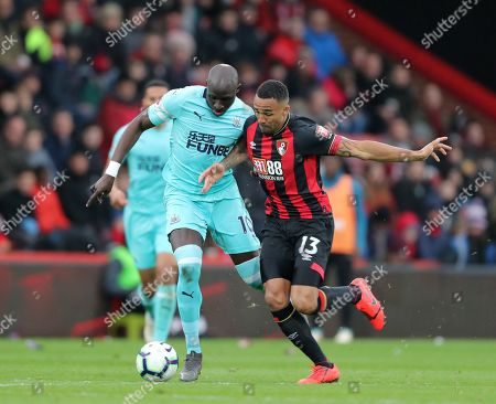 Mohamed Diame of Newcastle United and Callum Wilson of Bournemouth.