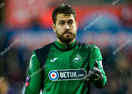 Kristoffer Nordfeldt goalkeeper of Swansea City