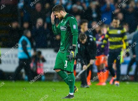 Kristoffer Nordfeldt goalkeeper of Swansea City at full time
