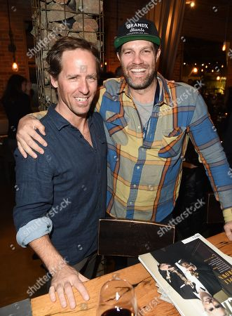 Nat Faxon and Geoffrey Stults attend the 2019 Sun Valley Film Festival Pioneer Dinner presented by Variety, held at the Enoteca in Sun Valley, ID