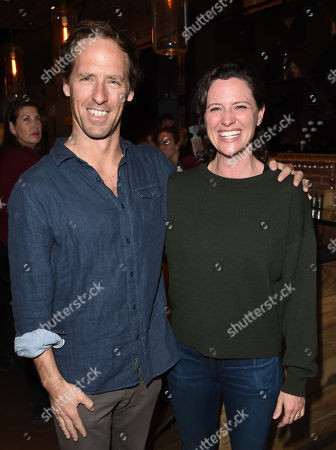 Nat Faxon and Jennifer Lafleur attend the 2019 Sun Valley Film Festival Pioneer Dinner presented by Variety, held at the Enoteca in Sun Valley, ID