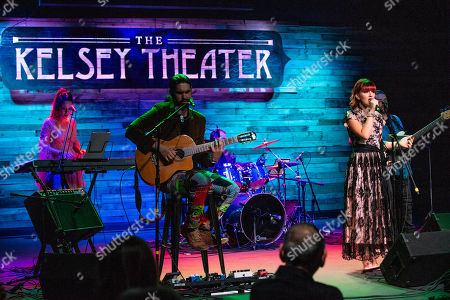 Editorial photo of Michaela Paige and Vintash Band in concert at The Kelsey Theater, Lake Park, USA - 15 Mar 2019