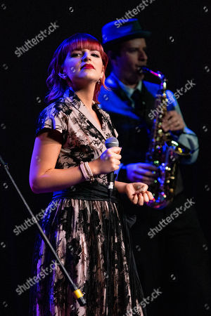 Editorial picture of Michaela Paige and Vintash Band in concert at The Kelsey Theater, Lake Park, USA - 15 Mar 2019