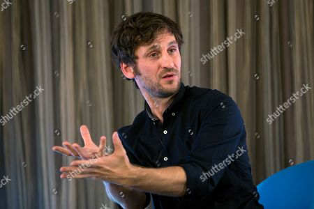 Stock Photo of Raul Arevalo speaks during a press conferenz in Malaga, southern Spain, 16 March 2019, prior to receiving the Malaga Talent Award on occasion of the Malaga Film Festival. The festival takes place from 15 to 24 March.