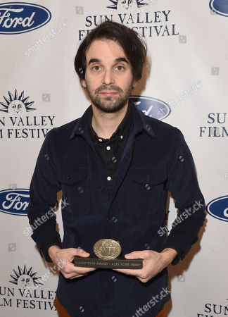 Alex Ross Perry is presented with the Rising Star Award during the 2019 Sun Valley Film Festival Coffee Talk with Alex Ross Perry presented by Ford held at the Argyros Theatre in Sun Valley, ID
