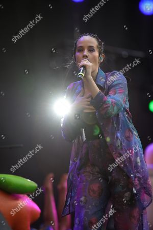 Ximena Sarinana performs during the Vive Latino Festival during its twentieth edition in Mexico City, Mexico, 16 March 2019.