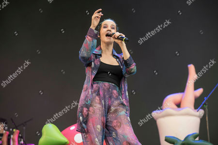 The singer Ximena Sarinana performs during the first day of the two-day Vive Latino music festival in Mexico City