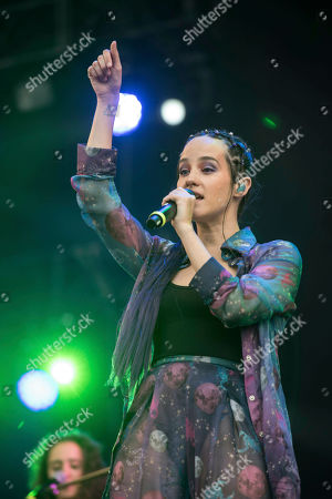 Singer Ximena Sarinana performs during the first day of the two-day Vive Latino music festival in Mexico City