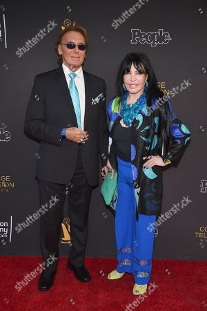Loreen Arbus, right, and guest arrive at the 39th College Television Awards presented by the Television Academy Foundation at the Saban Media Center, in the NoHo Arts District in Los Angeles