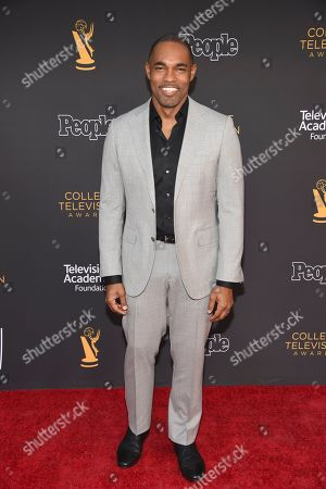 Jason Winston George arrives at the 39th College Television Awards presented by the Television Academy Foundation at the Saban Media Center, in the NoHo Arts District in Los Angeles