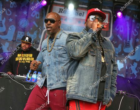 Stock Picture of Big Boi, Sleepy Brown. Big Boi, right, and Sleepy Brown perform at Rachael Ray's Feedback Party at Stubb's during the South by Southwest Music Festival, in Austin, Texas