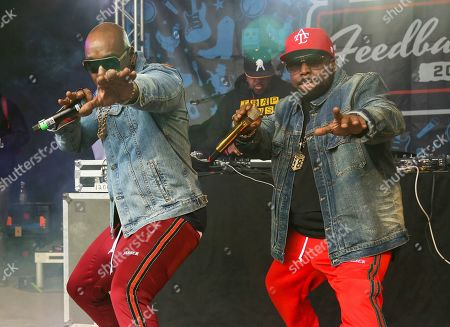 Stock Image of Big Boi, Sleepy Brown. Big Boi, right, and Sleepy Brown perform at Rachael Ray's Feedback Party at Stubb's during the South by Southwest Music Festival, in Austin, Texas