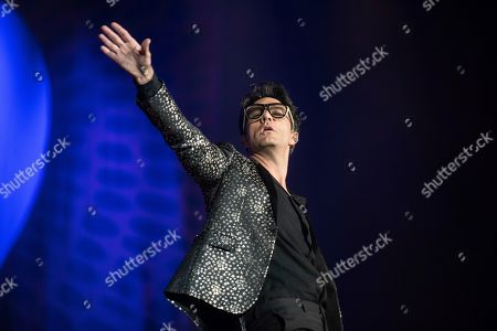 Singer Leonardo de Lozanne of band Fobia performs during the Vive Latino music festival in Mexico City, . The two-day rock festival is one of the most important and longest running of Mexico