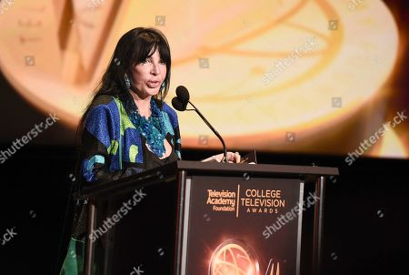 Loreen Arbus presents the Loreen Arbus Focus on Disability Scholarship at the 39th College Television Awards presented by the Television Academy Foundation at the Saban Media Center, in the NoHo Arts District in Los Angeles