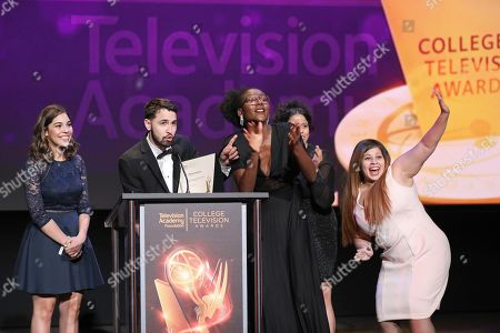 39th College Television Awards Show Los Angeles Stock Photos