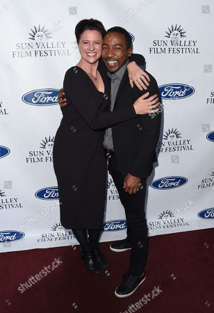 Jennifer Lafleur and Steven Wilson attend the 2019 Sun Valley Film Festival Vision Dinner presented by Ford held at The Roundhouse in Sun Valley, ID