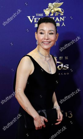 Chinese director-actress Joan Chen poses on the red carpet of the Asian Film Awards in Hong Kong