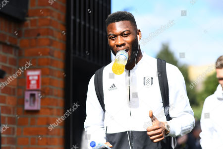 Timothy Fosu Mensah of Fulham arrives
