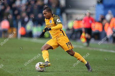 Jose Izquierdo of Brighton and Hove Albion on the ball
