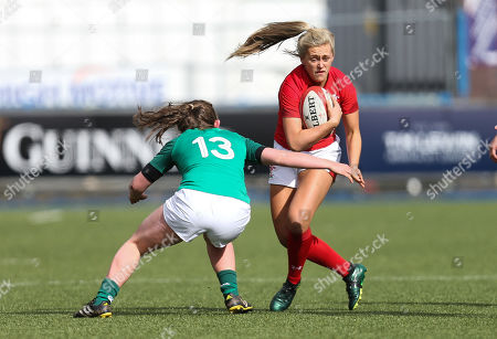 Hannah Jones of Wales takes on Enya Breen of Ireland