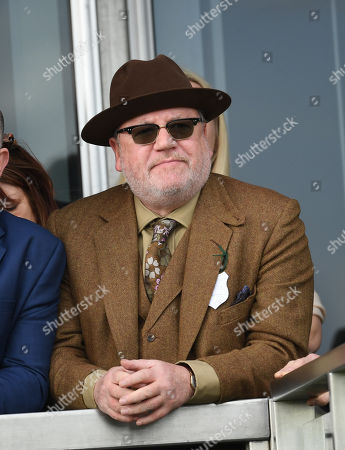 Ray Winstone watches the first race, The JLT Novices' Steeplechase