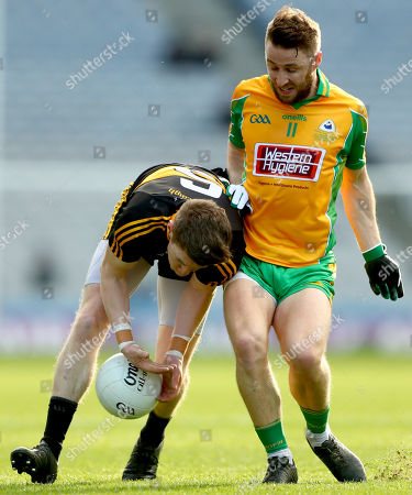 Corofin vs Dr. Crokes. Dr. Crokes' David O'Leary and Michael Lundy of Corofin