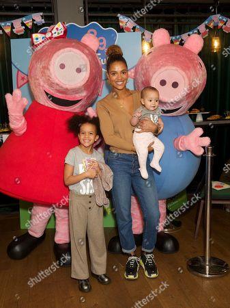Natalie Brown and children