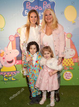 Allegra Kurer with children Zeke and Neroli and Vanessa Feltz