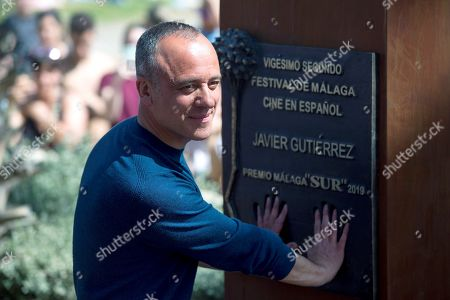 Stock Image of Javier Gutierrez poses during the unveiling of the Malaga Sur award in recognition of his work in Malaga, southern Spain, 17 March 2019, on the framework of the Malaga Film Festival, running from 15 to 24 March.