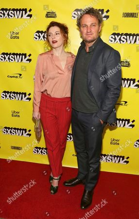 """Amy Seimetz, Jason Clarke. Amy Seimetz, left, and Jason Clarke arrive for the world premiere of """"Pet Sematary"""" at the Paramount Theatre during the South by Southwest Film Festival, in Austin, Texas"""