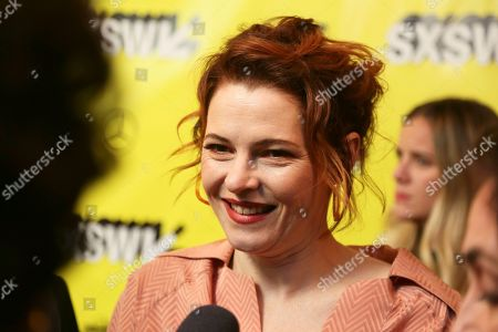 "Amy Seimetz arrives for the world premiere of ""Pet Sematary"" at the Paramount Theatre during the South by Southwest Film Festival, in Austin, Texas"