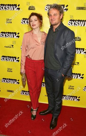 "Amy Seimetz, Jason Clarke. Amy Seimetz, left, and Jason Clarke arrive for the world premiere of ""Pet Sematary"" at the Paramount Theatre during the South by Southwest Film Festival, in Austin, Texas"