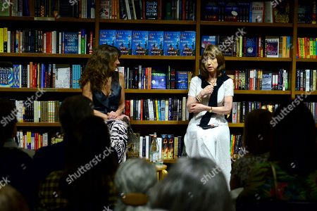 """Claudia Potamkin in a conversation with author Lisa See during the signing of her new book """"The Island of Sea Women"""" at Books and Books Gables"""
