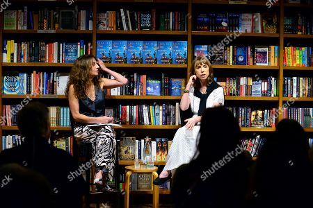 """Stock Photo of Claudia Potamkin in a conversation with author Lisa See during the signing of her new book """"The Island of Sea Women"""" at Books and Books Gables"""