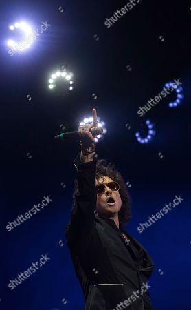 Singer Enrique Bunbury performs at the Vive Latino music festival in Mexico City, . The two-day rock festival is one of the most important and longest running of Mexico
