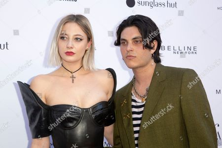 Vanessa Dubasso, Samuel Larsen. Vanessa Dubasso, left, and Samuel Larsen arrive at the 2019 Daily Front Row's Fashion Los Angeles Awards at The Beverly Hills Hotel, in Beverly Hills, Calif