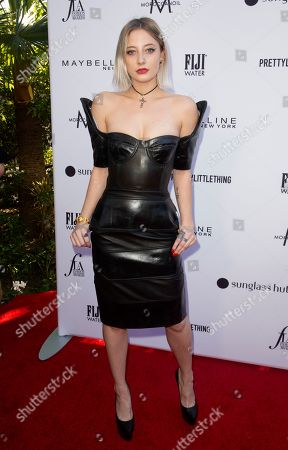 Stock Image of Vanessa Dubasso arrives at the 2019 Daily Front Row's Fashion Los Angeles Awards at The Beverly Hills Hotel, in Beverly Hills, Calif