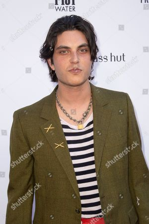 Samuel Larsen arrives at the 2019 Daily Front Row's Fashion Los Angeles Awards at The Beverly Hills Hotel, in Beverly Hills, Calif